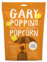 Gary Poppins Popcorn - Gourmet Flavored Popped Popcorn - 4 Pack Classic Cheddar (4oz)
