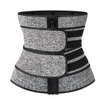 Vaslanda Neoprene Waist Trainer Corset for Women & Men Weight Loss Workout Sauna Sweat Belt Fitness with Double Belts