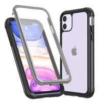 Red2Fire Designed for iPhone 11 Case, Built-in Screen Protector 360 Degree Full-Body Rugged Bumper Clear Cases for iPhone 11 6.1 Inch Release 2019
