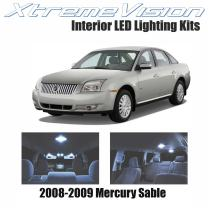 Xtremevision Interior LED for Mercury Sable 2008-2009 (10 Pieces) Cool White Interior LED Kit + Installation Tool