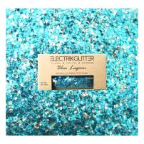 Biodegradable Glitter Chunky Glitter for Festivals. Eco Friendly Body Glitter for Hair Glitter, Nail Glitter, Face Eyeshadow glitter, Rave accessories, Holographic glitter makeup Blue Glitter