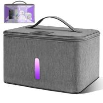 UV Sanitizer Box Disinfection Bag - Portable USB LED UV Sterilization Cabinet, Kills 99.9% of Harmful Substance, Large Capacity for Masks/Baby Bottle/Phone/Toothbrush/Beauty Tools/Underwear (Grey)