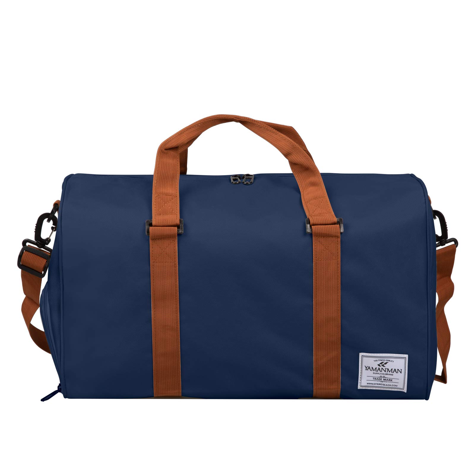 Travel Duffel Bag Large Capacity With Shoe Compartment Packable Weekender Bag for Men Women Water-proof & Tear Resistant