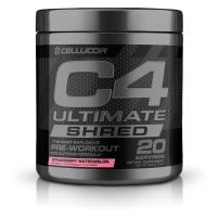 C4 Ultimate Shred Pre Workout Powder, Fat Burner for Men & Women, Weight Loss Supplement with Ginger Root Extract, Strawberry Watermelon, 20 Servings