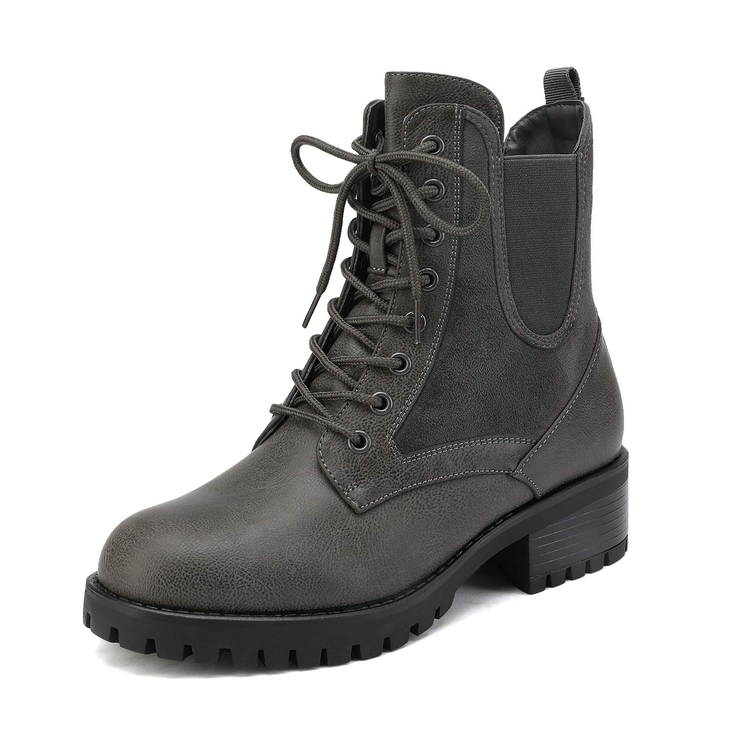 DREAM PAIRS Women's Military Lace Up Combat Boots Chelsea Ankle Booties