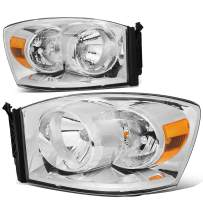 DNA MOTORING HL-OH-RM06-CH-AM Pair Factory Style Front Driving Headlight Lamp Set Replacement