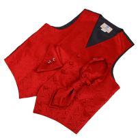 Y&G Men's Fashion Multi Patterned Good Mens Vests Cufflinks Hanky Ascot Tie Set