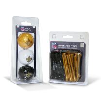 """Team Golf NFL Logo Imprinted Golf Balls (3 Count) & 2-3/4"""" Regulation Golf Tees (50 Count) - Ball Colors May Vary"""