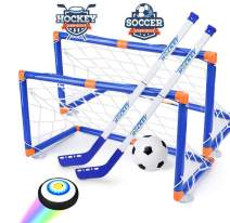 Hover hockey,Knee Hockey Set ,Hockey & Soccer Gifs For Boys - Sport Toys With 2 Goals - A Soccer Ball and Pump- Air Power Training Ball Playing Hockey Game -,Air Soccer Hover Ball,Best Gifts For Kids