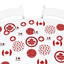 Big Dot of Happiness Canada Day - Canadian Party Giant Circle Confetti - Party Decorations - Large Confetti 27 Count