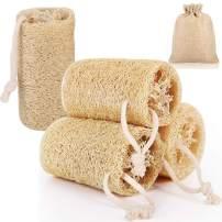 Accmor Natural Egyptian Loofah Loofa Luffa Lofa Sponges Body Shower Scrubber 100% Natural SPA Beauty Bath Kitchen Sponge for Exfoliating Men Women Skin (4 Pack)