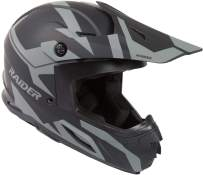 Raider Z7 Unisex-Adult Road MX Helmet (Matte Black/Silver, XX-Large)