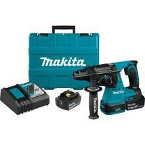 "Makita XRH01T 18V LXT Lithium-Ion Brushless Cordless 1"" Rotary Hammer Kit (5.0Ah)"