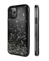 "SWITCHEASY iPhone 11 Clear Case - Starfield Luxury Fashion Glitter Hard Case Transparent Clear Shiny Bling Sparkling Protective Cover for Girls (Transparent Black, 2019 iPhone 6.1"")"