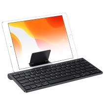 OMOTON iPad 10.2 Keyboard with Sliding Stand, Ultra-Slim Keyboard for iPad 10.2(7th gen)/9.7(6th gen), iPad Air 10.5/9.7, iPad Mini 5/4, and iPhone [Sliding Stand not for iPad Pro 12.9/11] Black