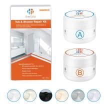 Tub, Tile and Shower Repair Kit (Color Match), 3.7oz Fiberglass Repair Kit, Porcelain Repair Kit White/Almond/Black/Bone/Bisque/Biscuit/Grey/Cream/Off White/Beige, Odorless Bathtub Paint