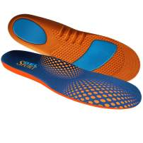 JobSite Gel Sport Insoles - Gel Heel & Metatarsal Shock Pad - US Women 6-11 (Trim to Fit)
