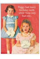 Peggy is a Wh-re - Humorous Printed Stationery Birthday Card with Envelope (Extra Large 8.5 x 11 Inch) - Hilarious Happy Bday Notecard for Women, Adults - Retro Illustrated Stationery Design J2182BDG