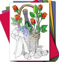 Art Eclect Adult Coloring Greeting Cards for Birthday, Anniversary and Every Occasion (20 Cards With 20 Different Unique Designs and 20 Colored Envelopes Included, Set AC/Rainbow)