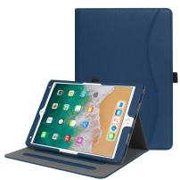 """Fintie Case for iPad Air 10.5"""" (3rd Gen) 2019 / iPad Pro 10.5"""" 2017 - [Corner Protection] Multi-Angle Viewing Folio Stand Cover with Pocket, Pencil Holder, Auto Wake/Sleep, Navy"""