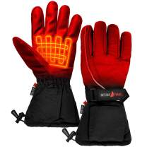ActionHeat AA Battery Heated Snow Gloves – Men Rechargeable Electric Gloves w/Weather Resistant Soft Shell, Cozy Fleece