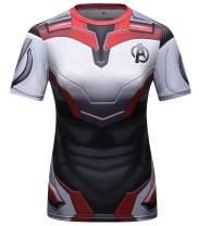 Red Plume Women's Superhero Sercies Short-Sleeved T-Shirt Yoga Sport Shirt Fitness Short Sleeve for Women