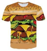 PIZOFF Unisex Short Sleeve 3D Funny Print T-Shirt