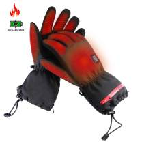 ZLTFashion Heated Windproof Gloves,7.4V Electric Rechargeable Battery Touchscreen for Men Women Warm Gloves for Ski Bike Motorcycle Hand Heating Warmers, Winter Thermo Gloves