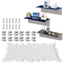 Palksky Silicone Shelf Resin Mold/Floating Shelves Wall Mounted Epoxy Resin Casting Mold with 12pcs Mounting Brackets,12pcs Screws/DIY Wall Shelves Display Ledge Storage Rack for Living Room Bathroom