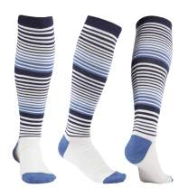 +MD 3 Pairs Bamboo Compression Socks Women & Men 8-15mmHg Knee High Socks