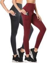 Neleus Women's Yoga Pants Tummy Control High Waist Workout Leggings with 2 Pocket