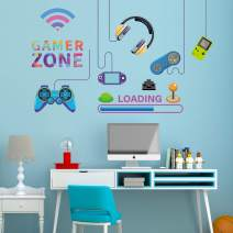 Ouboya Eat Sleep Game Wall Decal Loading Wall Sticker - Video Gamer Wall Stickers Lettering Wall Decals Murals Vinyl Art Game Wall Decal - Gaming Wall Stickers for Play Room Bedroom Decor (Game F)