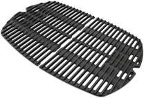 Votenli C764E(2-Pack) Cast Iron Cooking Grid Grates Replacement for Weber Q200 Series, Q2000 Series, Q2200, Q2400, 53060001 Grill Models, Replacement for Weber 7645