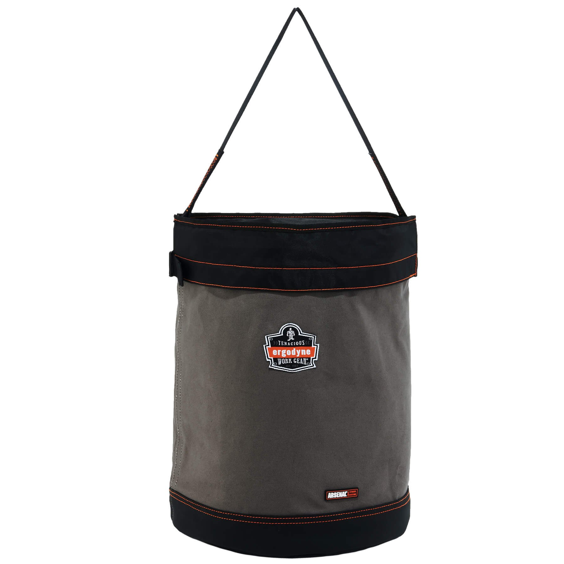 Ergodyne Arsenal 5935T X-Large Canvas Tool Bucket with Cover, Gray