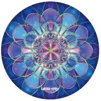 Non Slip Rubber Mouse Pad Beautiful Pattern Desktop 7.9in X7.9in Small Size Computer PC Round Mouse Mat (Flower 15)