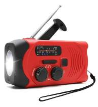 Emergency Weather Radio Solar Hand Crank Self Powered TPLISAK AM FM NOAA Weather Radios with 2000mAh Power Bank Charger for Smart Phone, Flashlight,SOS Alarm Outdoor Survival Device (Red)