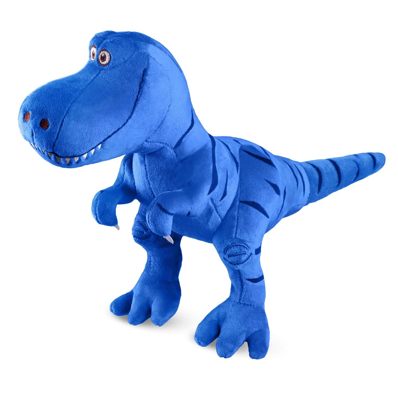 Marsjoy Blue Stuffed Dinosaur Plush Toy, Plush Dinosaur Stuffed Animal, Tyrannosaurus Rex Dinosaur Toy for Baby Girl Boy Kids Birthday Gifts, 11×5×13.9 inch