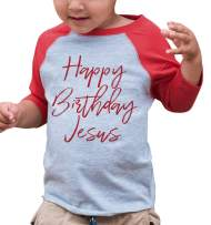 7 ate 9 Apparel Kids Happy Birthday Jesus Red Raglan Tee