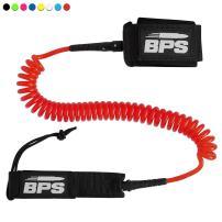 BPS 'Storm' Premium Surf SUP Leash 10 Foot Coiled Leash – Choose Color and Bundle