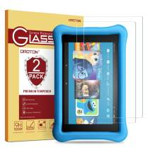[2 Pack] OMOTON Tempered Glass Screen Protector for All-New Fire HD 8 / Fire HD 8 Kids Edition Screen Protector (2018/2017 Release)