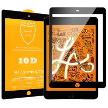 Dadanism Screen Protector Fit New iPad Mini 5 2019 (5th Generation) and iPad Mini 4 2015, [Colored Border] [Bubble Free] [Scratch Resistant] 9H Hardness HD Clear Full Screen Tempered Glass Film, Black