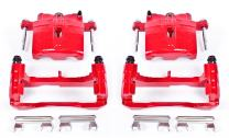 Power Stop S4728 Performance Powder Coated Brake Caliper Set For Chevy, GMC, Cadillac, Hummer