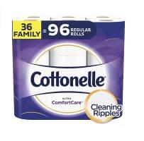 Cottonelle Ultra ComfortCare Soft Toilet Paper, 36 Family Plus Rolls, Bath Tissue
