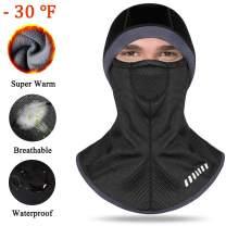 Balaclava Face Mask Ski Mask Cold Weather Hood Windproof Warm Thickened Black