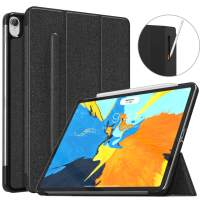 """MoKo Case Fit iPad Pro 11"""" 2018 with Elastic Pencil Holder - [Support Pencil 2 Charging] Slim Lightweight Smart Shell Stand Cover Case with Auto Wake/Sleep for iPad Pro 11 Inch - Black"""