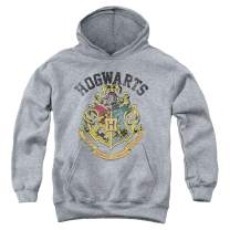 Popfunk Harry Potter Retro Hogwarts Logo Kids Youth Pullover Hoodie & Stickers