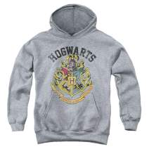 Popfunk Harry Potter Retro Hogwarts Logo Kids Youth Pullover Hoodie & Stickers