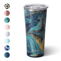 Swig Life 22oz Triple Insulated Stainless Steel Skinny Tumbler with Lid, Dishwasher Safe, Double Wall, and Vacuum Sealed Travel Coffee Tumbler in our Starry Night Pattern (Multiple Patterns Available)