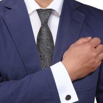 Y&G Men's Fashion Multi-Colored Patterns Neckwear Style Presents Mens Silk Tie Cufflinks Set 2PT