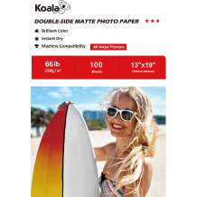 Koala Photo Paper 13x19 Inches Heavyweight Double Side Matte 100 Sheets 250gsm Compatible with Inkjet Printer